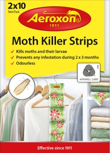 Moth strips to protect clothes and especially wool fabrics