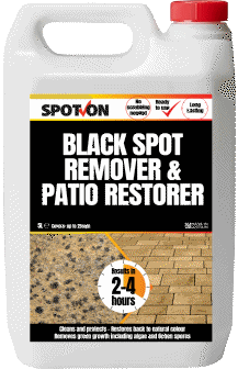 Remove ugly black spots and slippery algae on your patios
