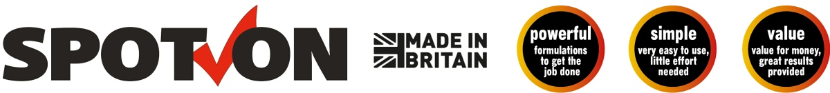 Spot on products are very easy to use, made in Britain and offer value for money