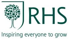 Logo of Royal Horticultural society, inspiring everyone to grow